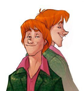 Portrait de Fred et George Weasley