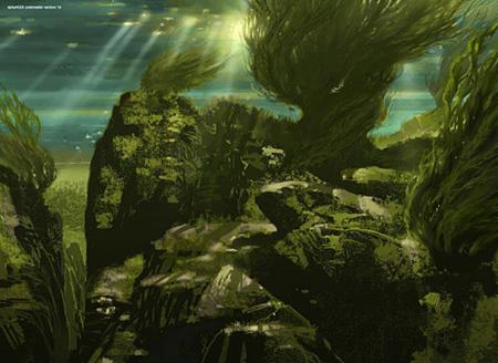 Vue sous-marine du lac